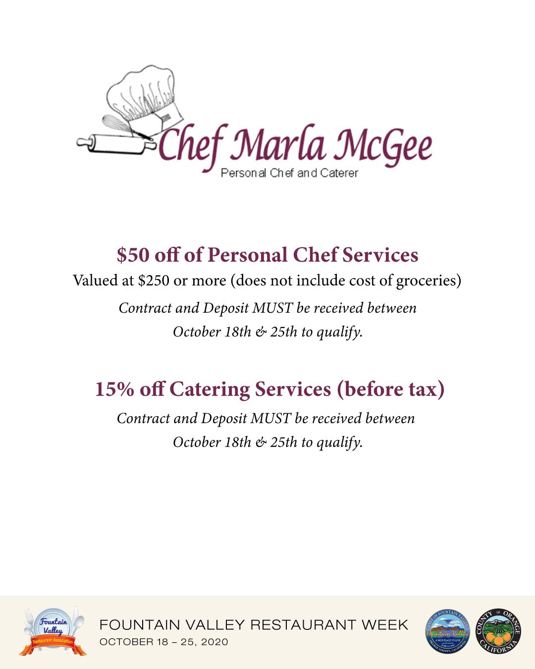 Chef Marla McGee, Inc.